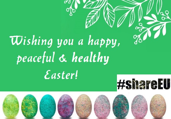 Obrazek z tekstem: Wishing you a happy, peaceful & healthy Easter